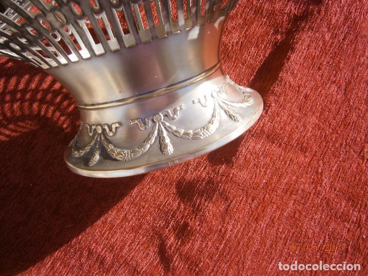 Antigüedades: Precioso frutero modernista plateado - Foto 6 - 86828772