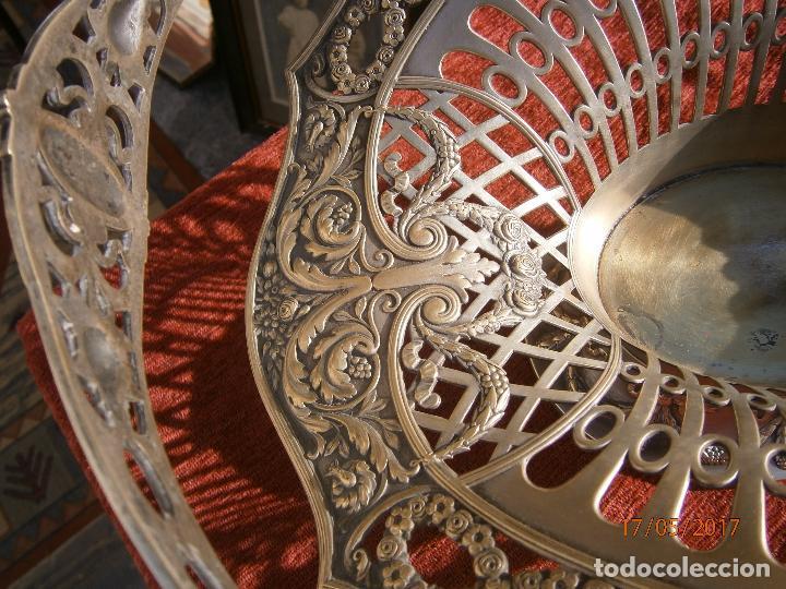 Antigüedades: Precioso frutero modernista plateado - Foto 9 - 86828772