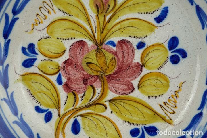 Antigüedades: Plato en cerámica de Manises colores finales siglo XIX - Foto 7 - 86835700