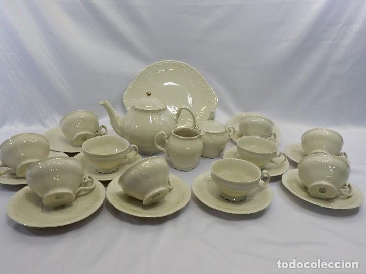 Antigüedades: Gran servicio de té en una de las mejores porcelanas de Bohemia. Bernadotte. Mediados s XX. - Foto 2 - 86846332
