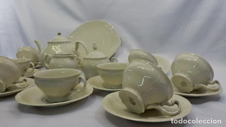Antigüedades: Gran servicio de té en una de las mejores porcelanas de Bohemia. Bernadotte. Mediados s XX. - Foto 3 - 86846332