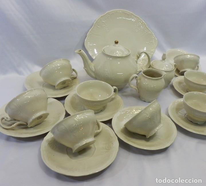 Antigüedades: Gran servicio de té en una de las mejores porcelanas de Bohemia. Bernadotte. Mediados s XX. - Foto 4 - 86846332