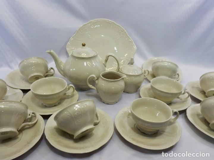 Antigüedades: Gran servicio de té en una de las mejores porcelanas de Bohemia. Bernadotte. Mediados s XX. - Foto 5 - 86846332