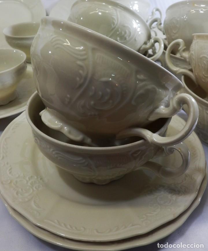 Antigüedades: Gran servicio de té en una de las mejores porcelanas de Bohemia. Bernadotte. Mediados s XX. - Foto 6 - 86846332