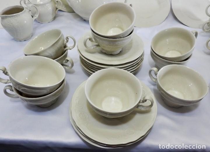 Antigüedades: Gran servicio de té en una de las mejores porcelanas de Bohemia. Bernadotte. Mediados s XX. - Foto 10 - 86846332
