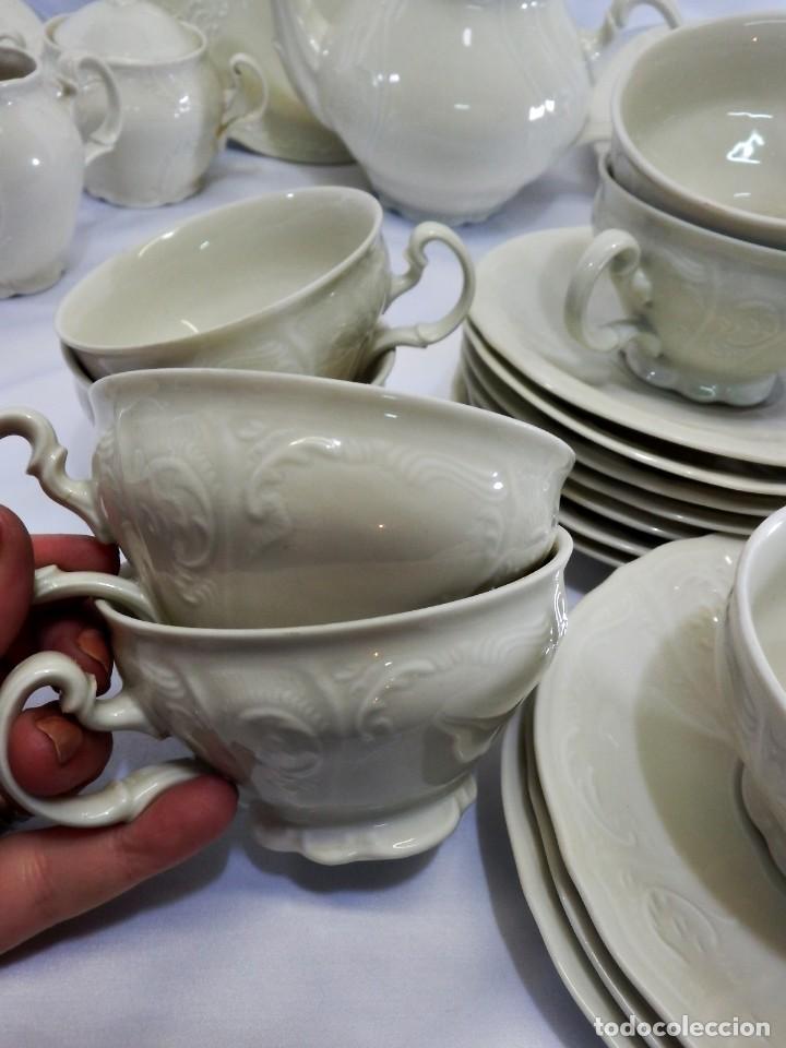 Antigüedades: Gran servicio de té en una de las mejores porcelanas de Bohemia. Bernadotte. Mediados s XX. - Foto 11 - 86846332