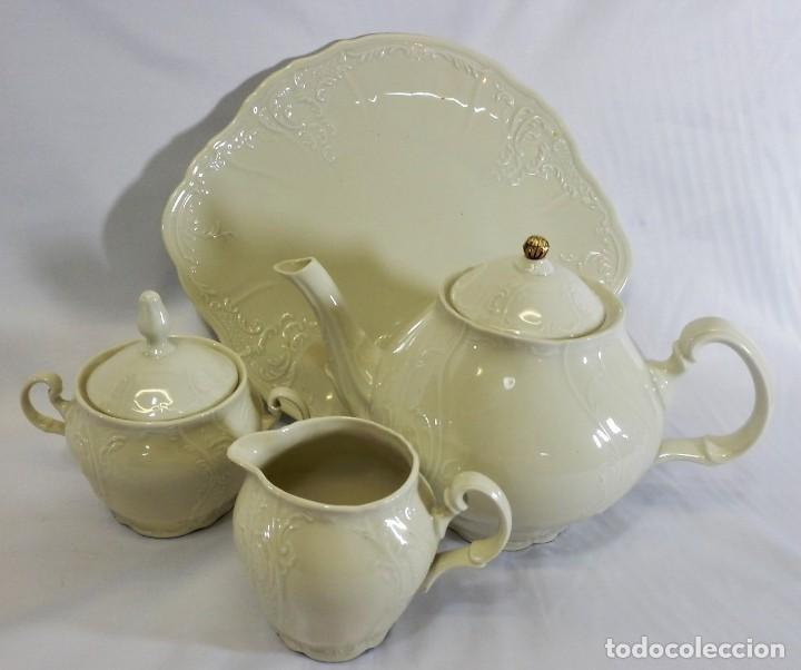 Antigüedades: Gran servicio de té en una de las mejores porcelanas de Bohemia. Bernadotte. Mediados s XX. - Foto 12 - 86846332