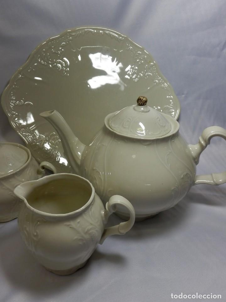 Antigüedades: Gran servicio de té en una de las mejores porcelanas de Bohemia. Bernadotte. Mediados s XX. - Foto 13 - 86846332