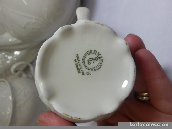 Antigüedades: Gran servicio de té en una de las mejores porcelanas de Bohemia. Bernadotte. Mediados s XX. - Foto 15 - 86846332