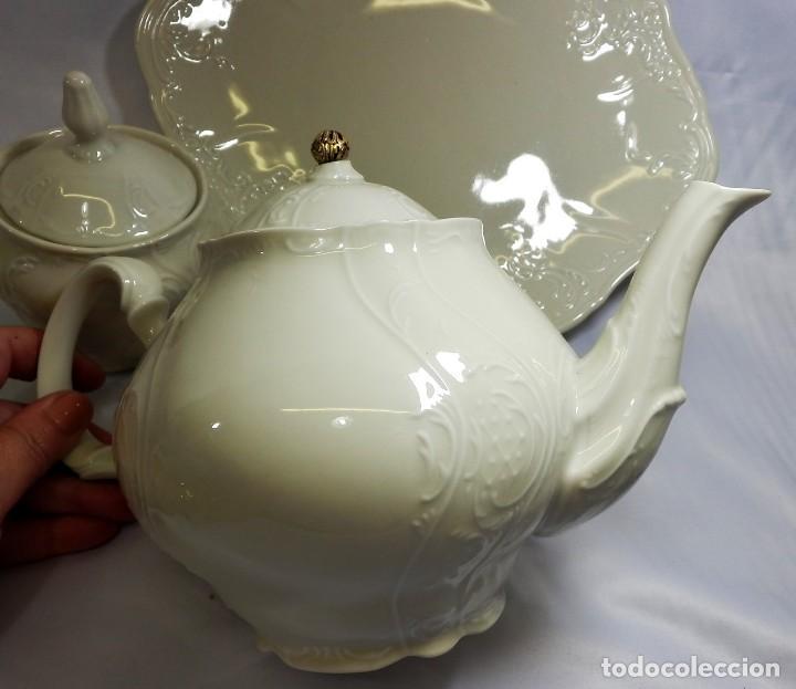 Antigüedades: Gran servicio de té en una de las mejores porcelanas de Bohemia. Bernadotte. Mediados s XX. - Foto 20 - 86846332