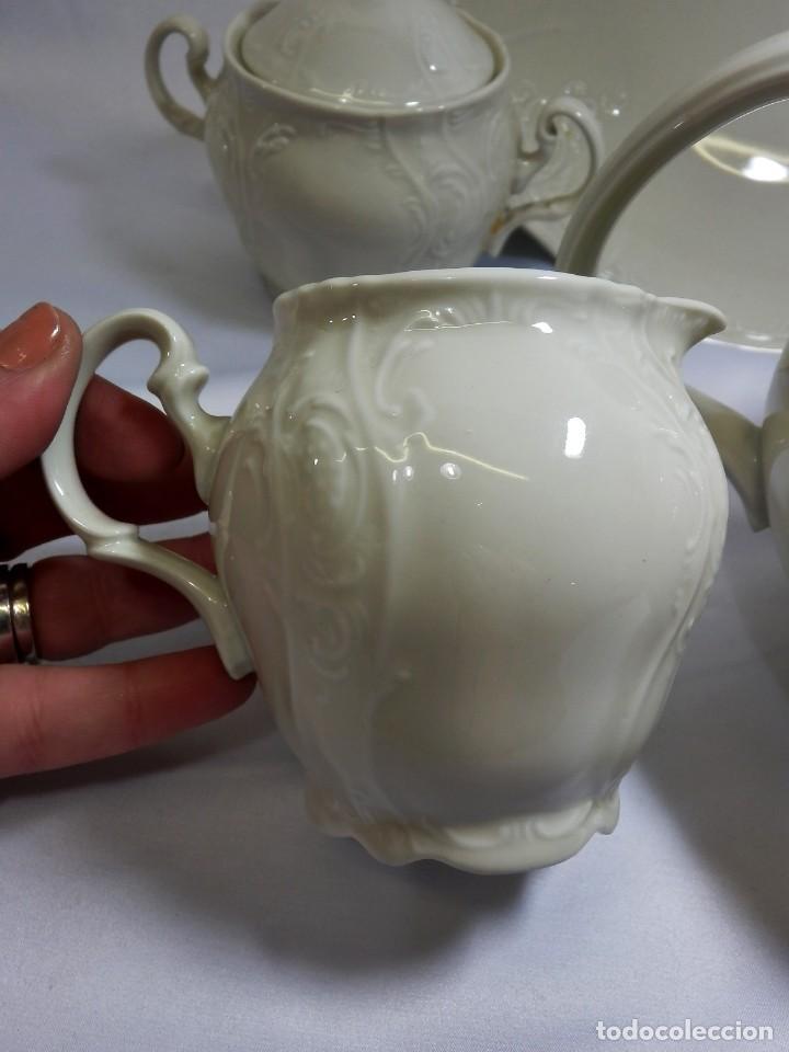 Antigüedades: Gran servicio de té en una de las mejores porcelanas de Bohemia. Bernadotte. Mediados s XX. - Foto 21 - 86846332