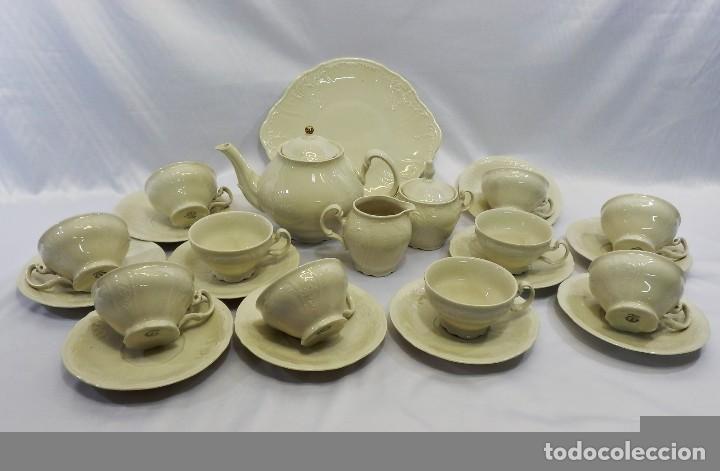 Antigüedades: Gran servicio de té en una de las mejores porcelanas de Bohemia. Bernadotte. Mediados s XX. - Foto 24 - 86846332