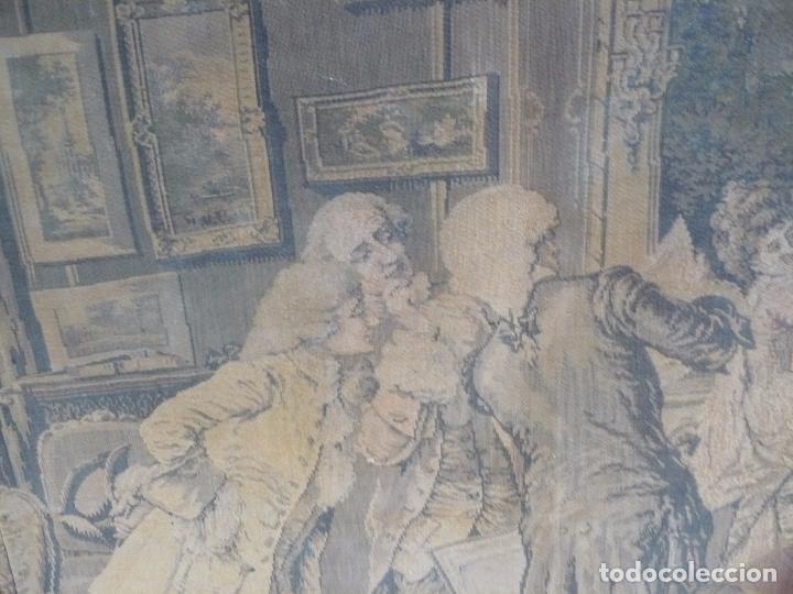 Antigüedades: ANTIGUO TAPIZ DE FINALES DEL SIGLO XIX- ESCENA CORTESANA - Foto 12 - 32785408