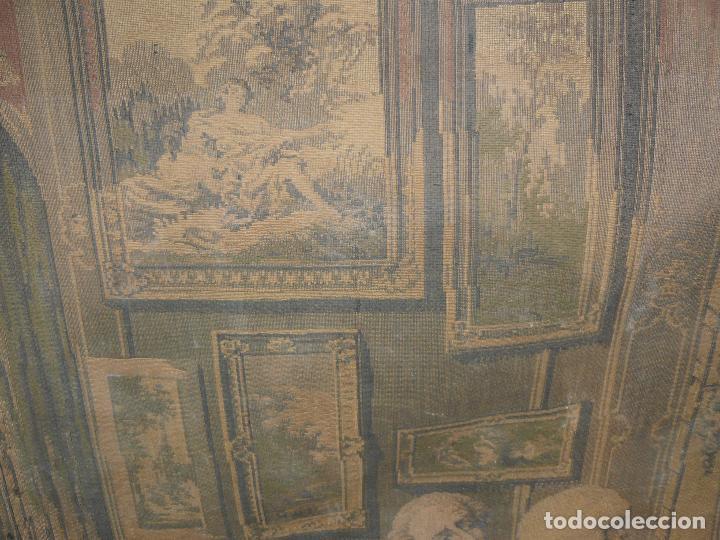 Antigüedades: ANTIGUO TAPIZ DE FINALES DEL SIGLO XIX- ESCENA CORTESANA - Foto 13 - 32785408