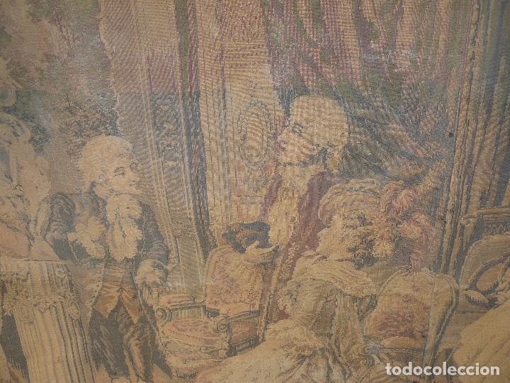 Antigüedades: ANTIGUO TAPIZ DE FINALES DEL SIGLO XIX- ESCENA CORTESANA - Foto 14 - 32785408