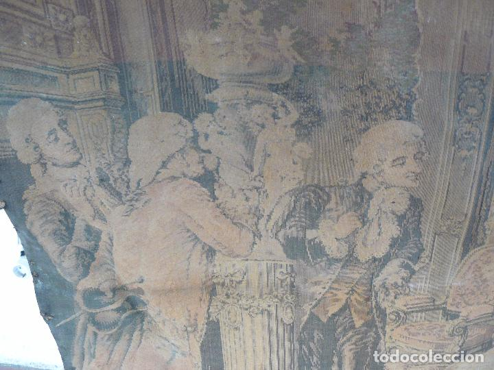 Antigüedades: ANTIGUO TAPIZ DE FINALES DEL SIGLO XIX- ESCENA CORTESANA - Foto 15 - 32785408