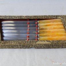 Antigüedades: LOTE DE 6 CUCHILLOS INOXIDABLES CON CAJA.. Lote 86862544