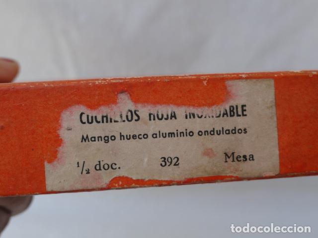 Antigüedades: LOTE DE 6 CUCHILLOS INOXIDABLES CON CAJA. - Foto 5 - 86862800