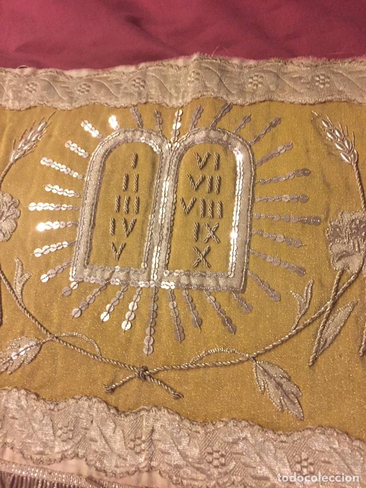Antigüedades: FRONTAL DE ALTAR BORDADO EN PLATA - Foto 12 - 49193816
