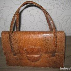 Antigüedades: ANTIGUO BOLSO EN PIEL DE IGUANA. Lote 86875068