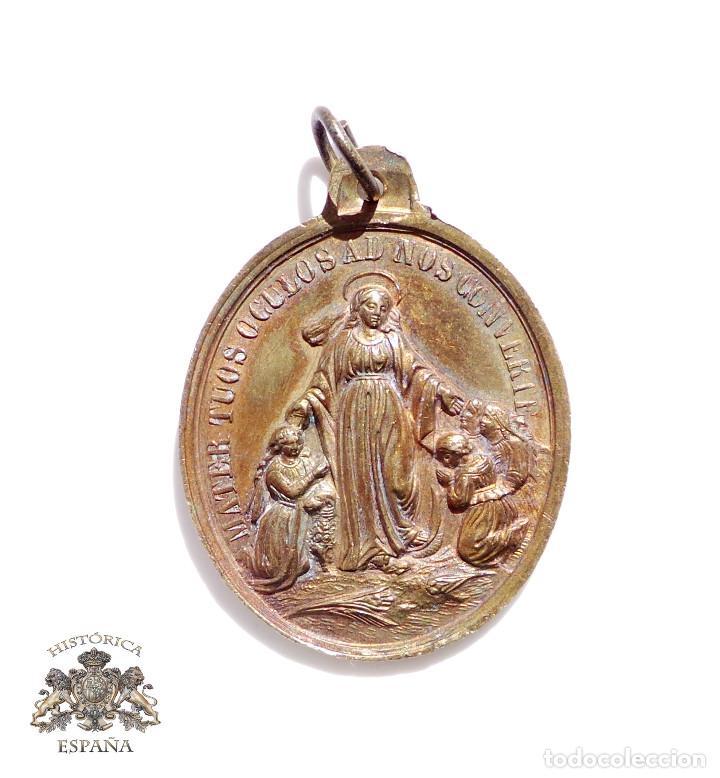 MEDALLA HIJAS DE LA INMACULADA CONCEPCIÓN - SIGLO XIX (Antigüedades - Religiosas - Medallas Antiguas)
