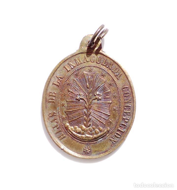 Antigüedades: MEDALLA HIJAS DE LA INMACULADA CONCEPCIÓN - SIGLO XIX - Foto 2 - 86878656
