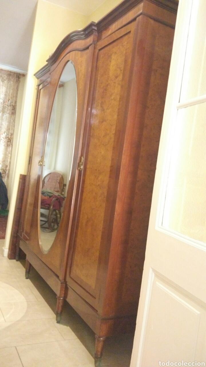 armario de madera de caoba con espejo - Comprar Armarios Antiguos en ...