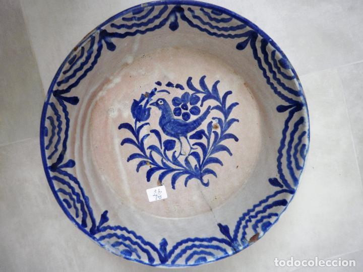 Antigüedades: Fuente de cerámica andaluza. Fajalauza. - Foto 3 - 86904868