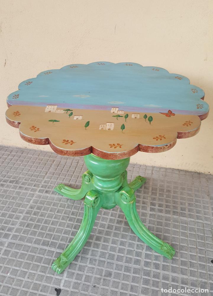 Antigüedades: Mesa velador restaurada artesanalmente. - Foto 2 - 86918716