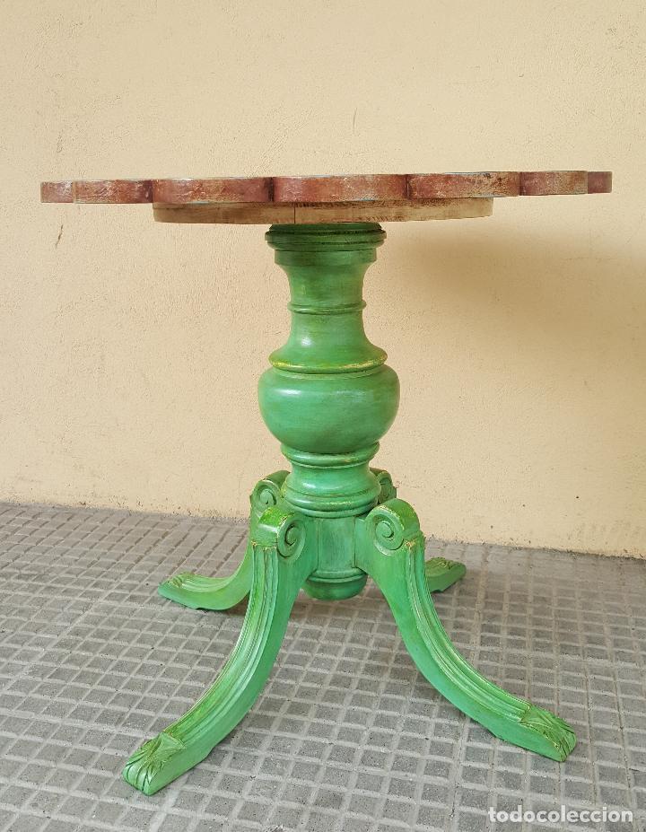 Antigüedades: Mesa velador restaurada artesanalmente. - Foto 4 - 86918716