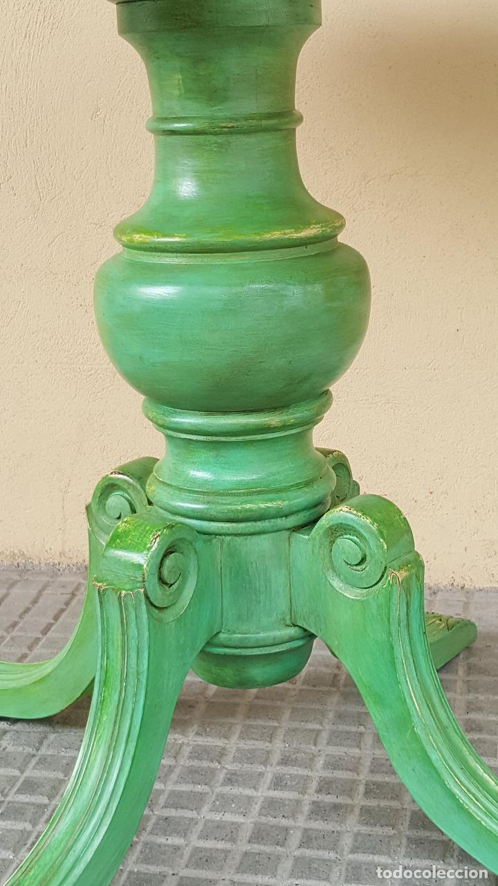 Antigüedades: Mesa velador restaurada artesanalmente. - Foto 5 - 86918716