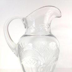 Antigüedades: ELEGANTE JARRA DE CRISTAL TALLADO. Lote 86935576