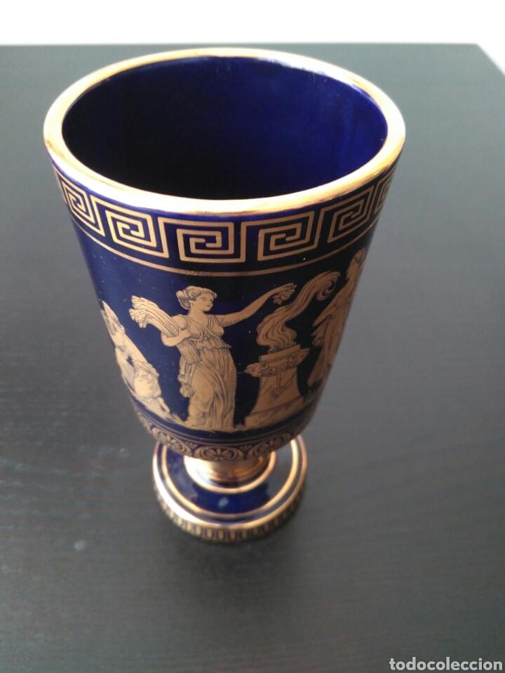 Antigüedades: EXCEKENTE Copa de Porcelana Greece eh 24k Gold - Foto 9 - 86942356