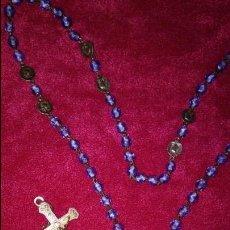 Antigüedades: ANTIGUO ROSARIO DE CRISTAL Y PLATA. Lote 86480200