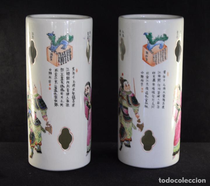 PAR PORCELANA CHINA CHINO (Antigüedades - Porcelanas y Cerámicas - China)
