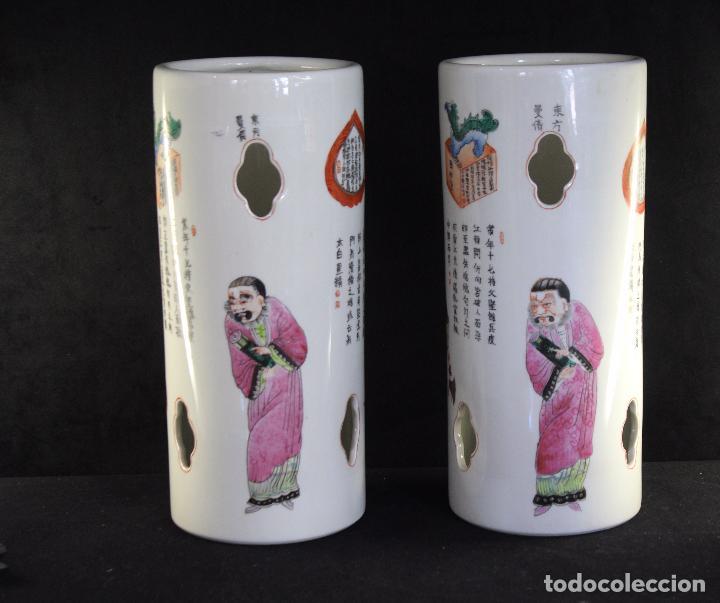 Antigüedades: PAR PORCELANA CHINA CHINO - Foto 2 - 86951252