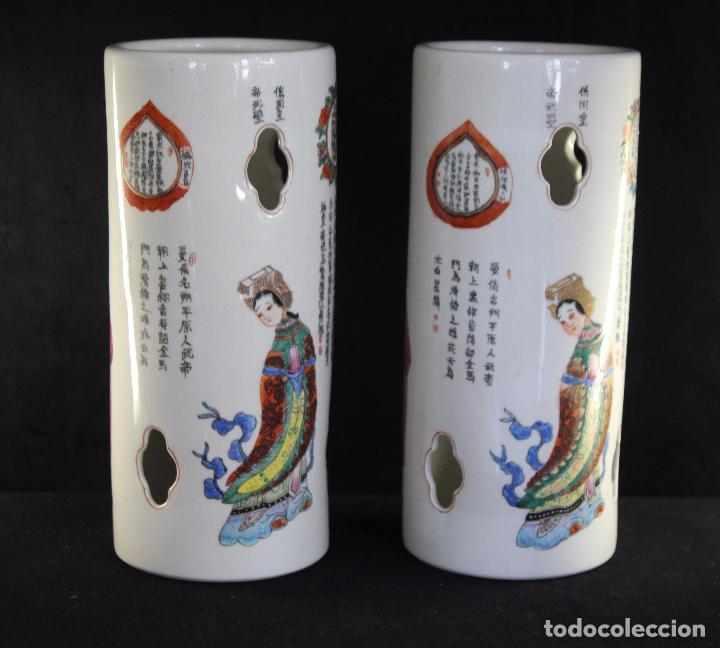 Antigüedades: PAR PORCELANA CHINA CHINO - Foto 3 - 86951252