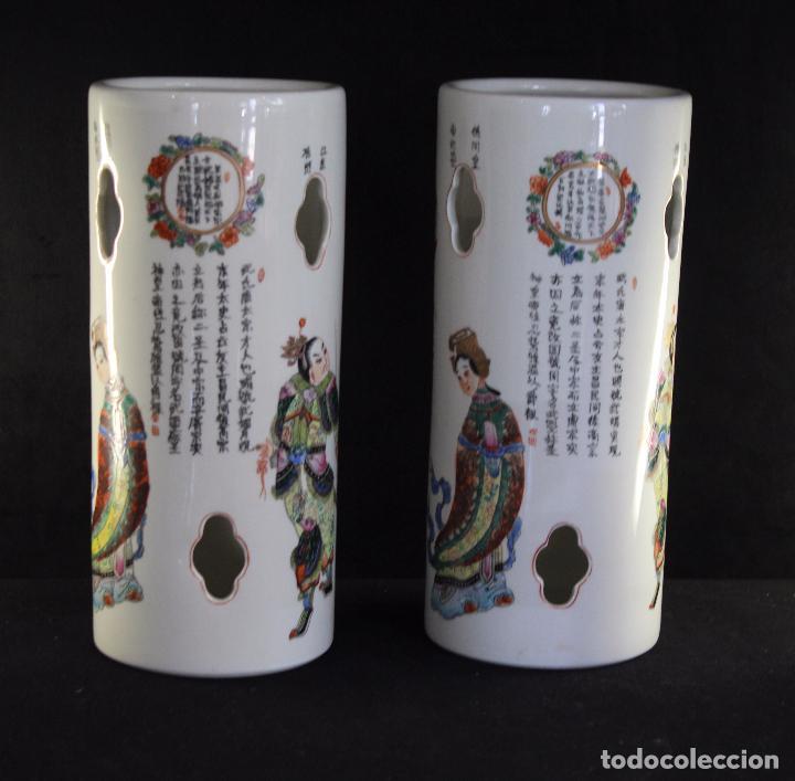 Antigüedades: PAR PORCELANA CHINA CHINO - Foto 4 - 86951252