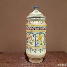 Antigüedades: PRECIOSO ALBARELO DE TALAVERA, MATE.. Lote 86952744