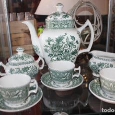 Antigüedades: PRECIOSO JUEGO DE CAFÉ DE 12 SERVICIOS EN PORCELANA INGLESA WESTMINSTER. IMPECABLE. VER FOTOS. Lote 86959336