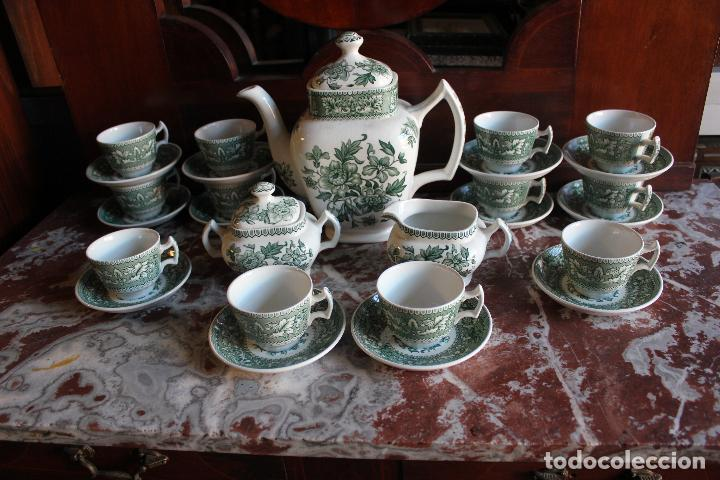 Antigüedades: PRECIOSO JUEGO DE CAFÉ DE 12 SERVICIOS EN PORCELANA INGLESA WESTMINSTER. IMPECABLE. VER FOTOS - Foto 3 - 86959336