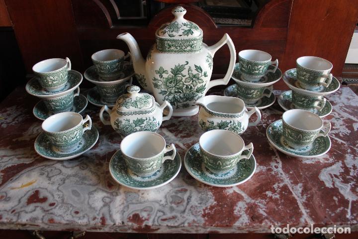 Antigüedades: PRECIOSO JUEGO DE CAFÉ DE 12 SERVICIOS EN PORCELANA INGLESA WESTMINSTER. IMPECABLE. VER FOTOS - Foto 4 - 86959336