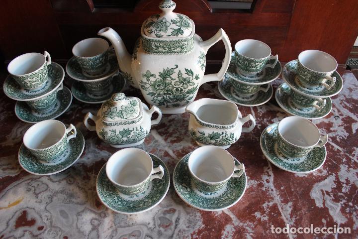 Antigüedades: PRECIOSO JUEGO DE CAFÉ DE 12 SERVICIOS EN PORCELANA INGLESA WESTMINSTER. IMPECABLE. VER FOTOS - Foto 6 - 86959336