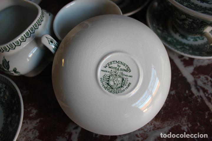 Antigüedades: PRECIOSO JUEGO DE CAFÉ DE 12 SERVICIOS EN PORCELANA INGLESA WESTMINSTER. IMPECABLE. VER FOTOS - Foto 10 - 86959336