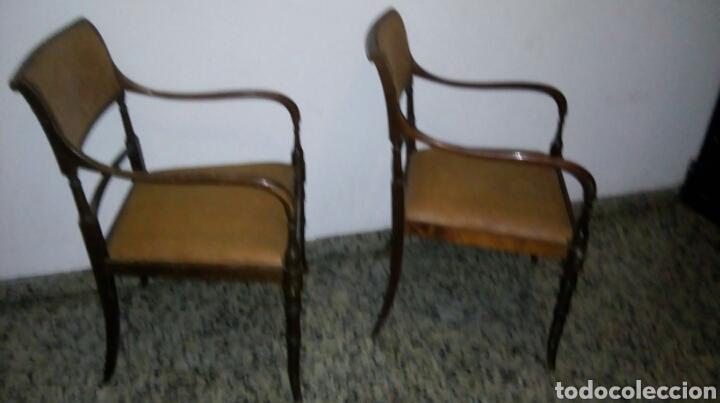 Antigüedades: Butacas sillones sillas despacho médico farmacia - Foto 2 - 86991212