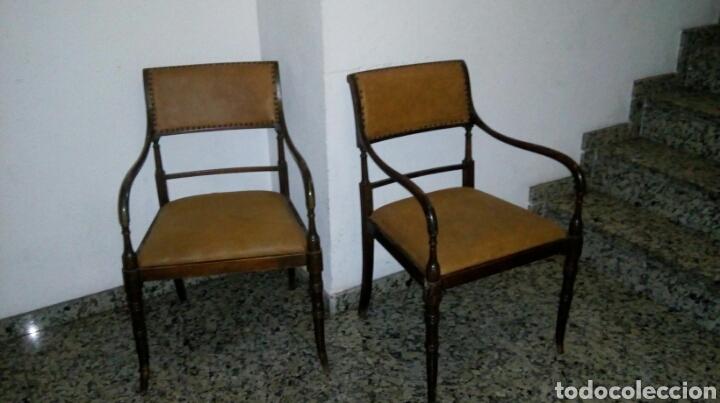 Antigüedades: Butacas sillones sillas despacho médico farmacia - Foto 3 - 86991212