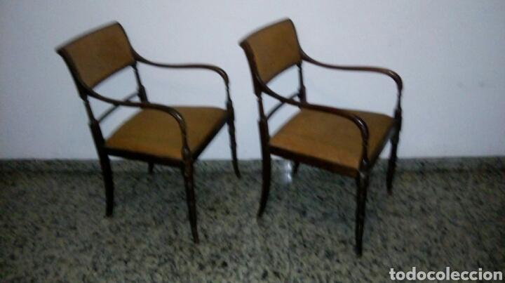 Antigüedades: Butacas sillones sillas despacho médico farmacia - Foto 4 - 86991212