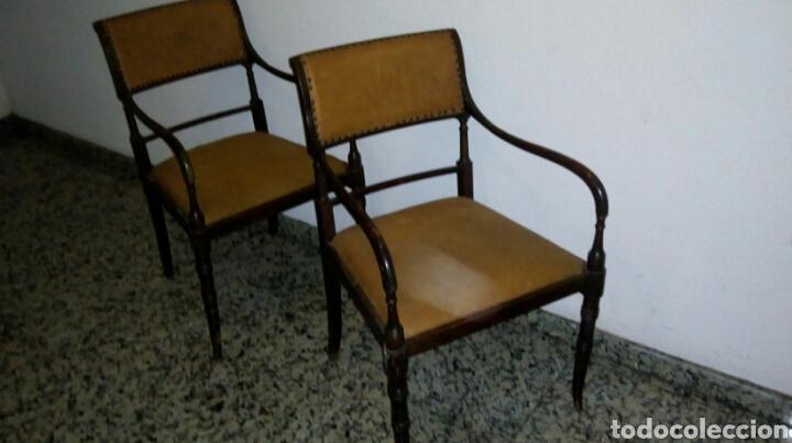 Antigüedades: Butacas sillones sillas despacho médico farmacia - Foto 5 - 86991212