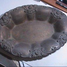 Antigüedades: ANTIGUA BANDEJA/FRUTERO DE COBRE PLATEADA.FINALES DEL S.XIX.. Lote 86997032