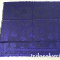 Antiques - Pañuelo de seda adamascado. Indumentaria tradicional. - 86998988